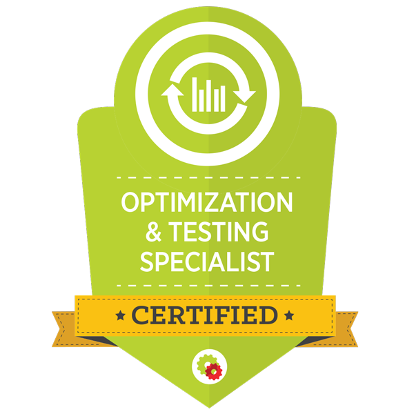 Certified Marketing Professional - Optimization and Testing Specialist
