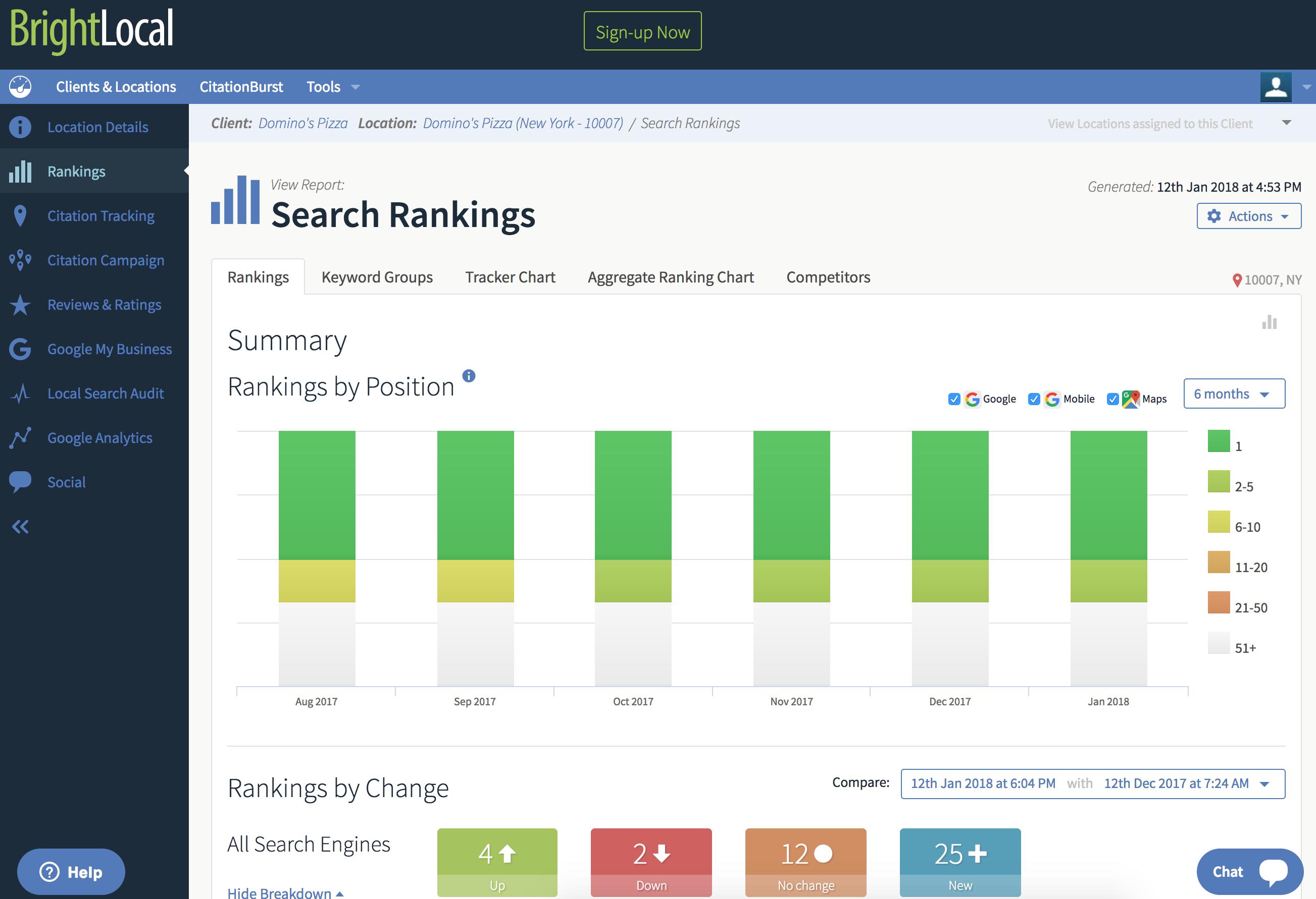SEO Tools Software Comparison - BrightLocal