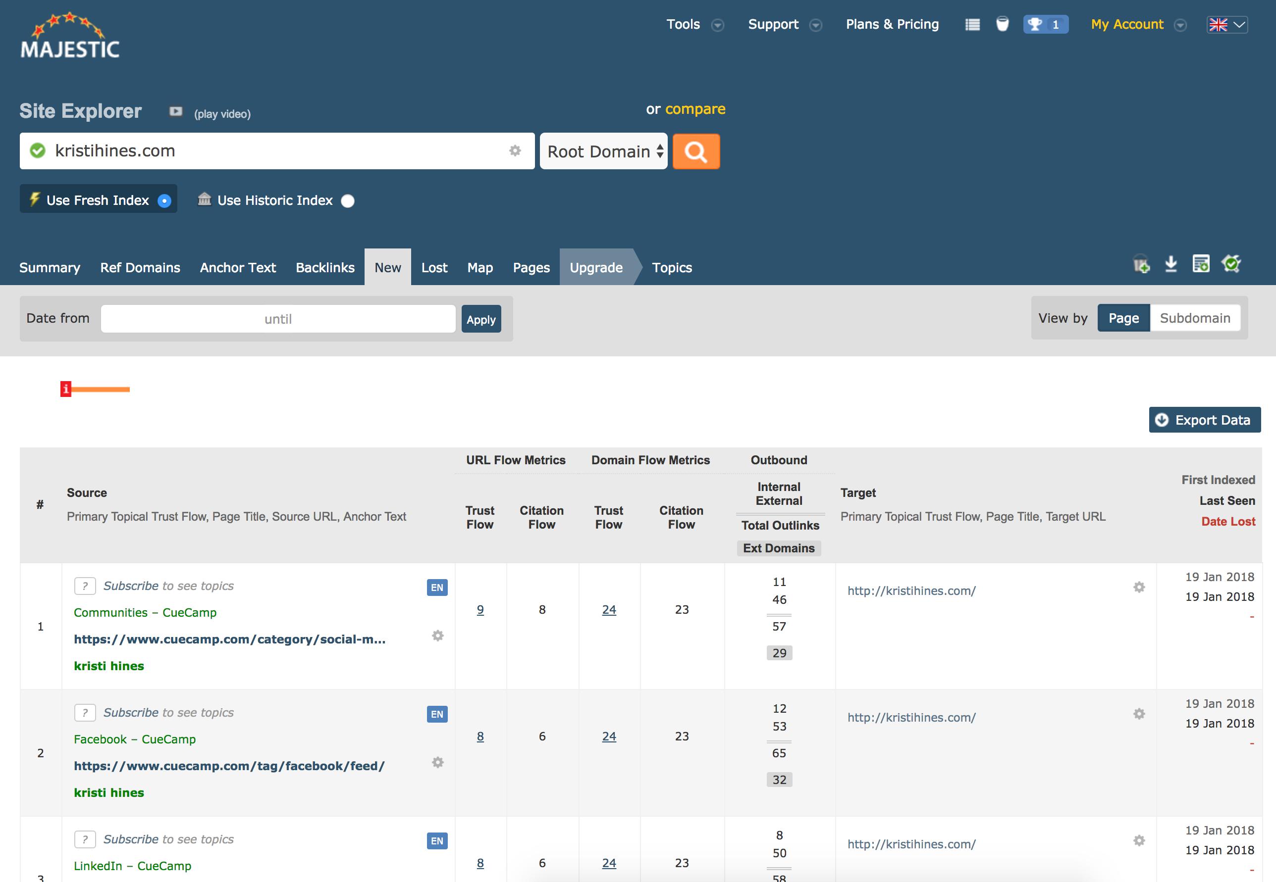 SEO Tools Software Comparison - MajesticSEO