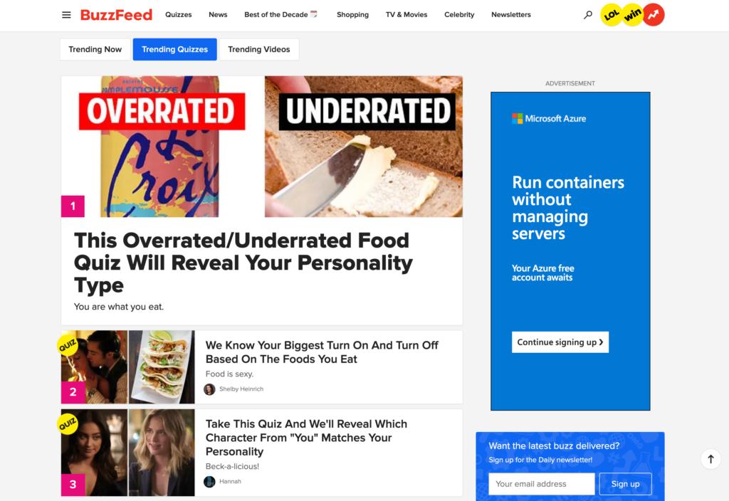 Trending Topics - Content Marketing Tool - BuzzFeed
