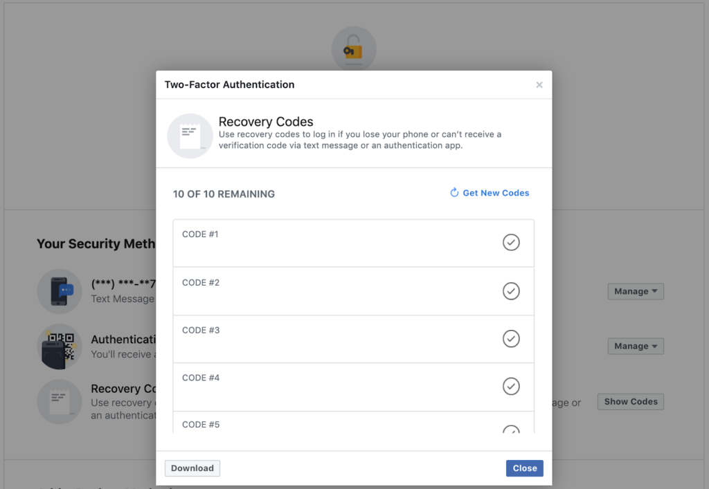 How to Login: Two Factor Authentication and Not Receiving Text Messages - Facebook Backup Code