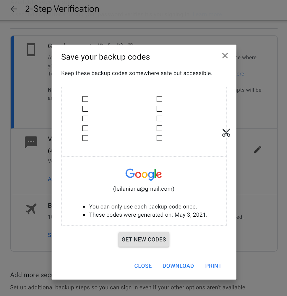 How to Login: Two Factor Authentication and Not Receiving Text Messages - Google Backup Code
